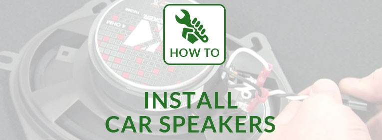 How to install a car speaker